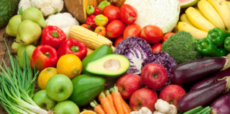 Raw Food fruits & vegetables