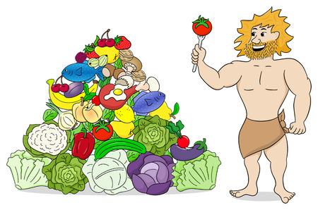 37339505 - caveman with paleo food pyramid