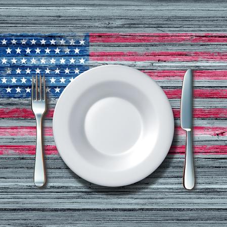 49949650 - American Flag Plate