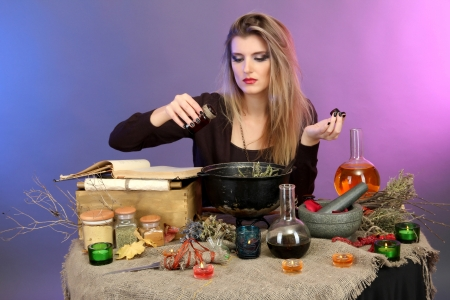 15964246 - witch making toxic soup