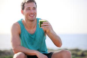 32318859 - man drinking vegetable juice