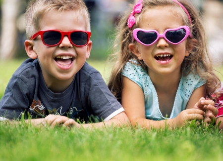 22306338 - cute children with sunglasses