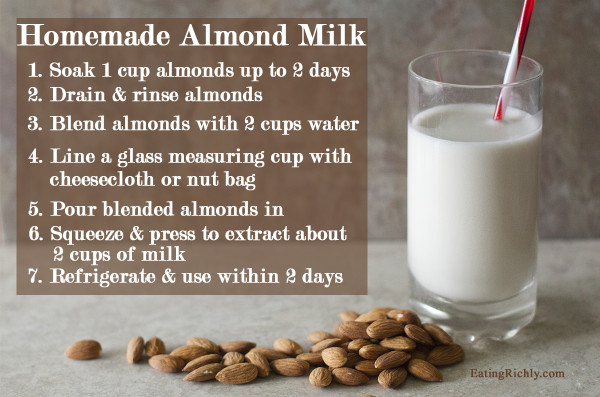fresh almond milk recipe
